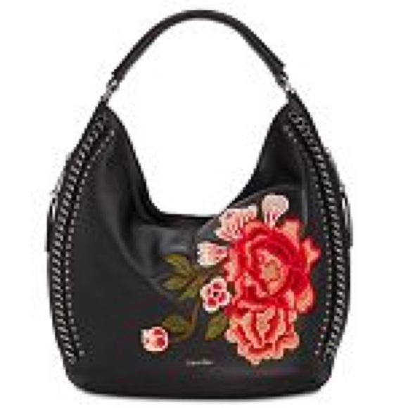 b268d6fe2725 Calvin Klein Handbags - Calvin Klein Samira Slouchy Pebble Leather Hobo